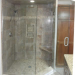 Luxury Shower | Custom Tiled with Partial Glass Surround