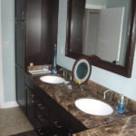 Double Sink Vanity with Marble Countertops