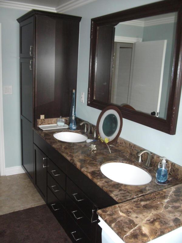 Double Sink Vanity with Marble Countertops
