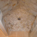 Redford Bathroom Remodel | Floor of Tiled Luxury Shower Stall