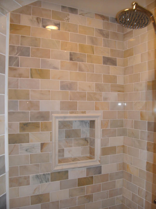 Tiled Luxury Shower Stall – Andy\'s Carpentry llc