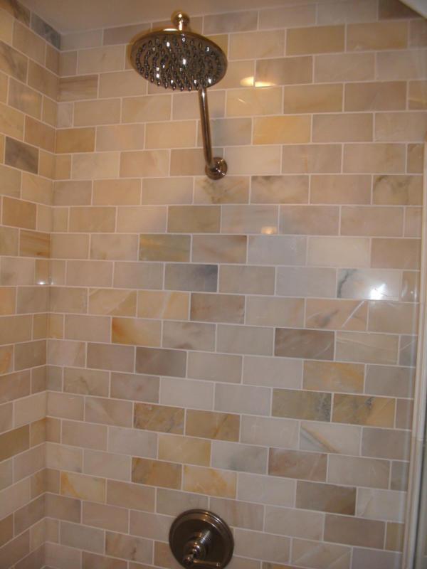 Redford Bathroom Remodel | Tiled Luxury Shower Stall