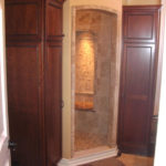Luxury Shower with Built In Linen Cabinets | Auburn Hills Oakland Rochester Hills MI | Bathroom Remodel
