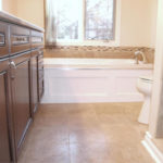 Jetted Tub with Custom Tiled Surround | Luxury Bathroom | Rochester Hills Michigan Bathroom Remodel