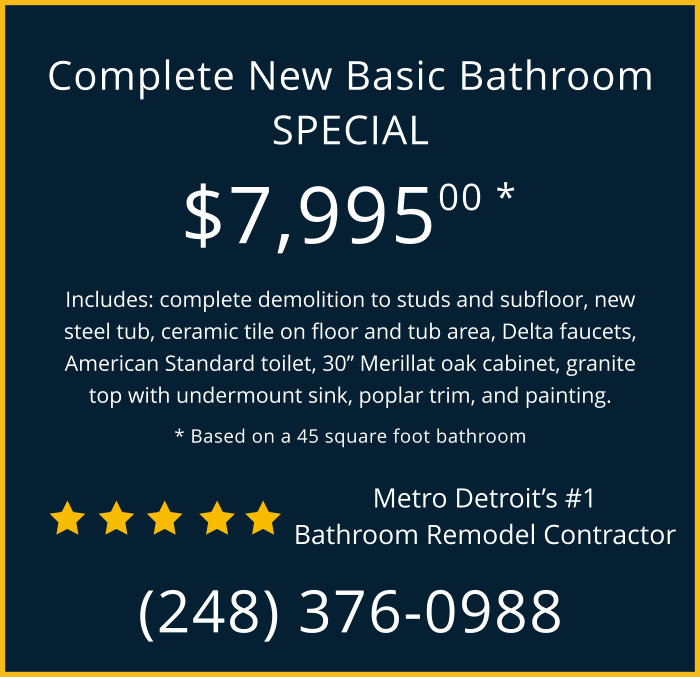 New Bathroom Remodel - Michigan Contractor